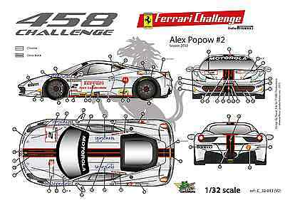 "FFSMC Productions Decals 1//32 Ferrari F-458 Challenge 2012 /""Momo/"""