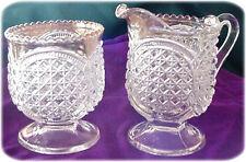Antique Crystal Glass Sugar and Spooner,Gold Rim, c1898, #200 Austrian Pattern