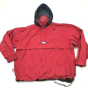 VINTAGE-Chaps-Ralph-Lauren-Jacket-Size-Extra-Large-Red-Anorak-Windbreaker-90-039-s