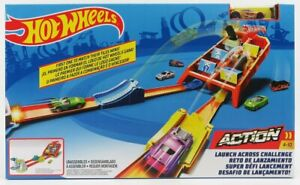 MATTEL HOT WHEELS 1/64 ACCESSORIES | LAUNCH ACROSS CHALLENGE WITH CAR | VARIOUS