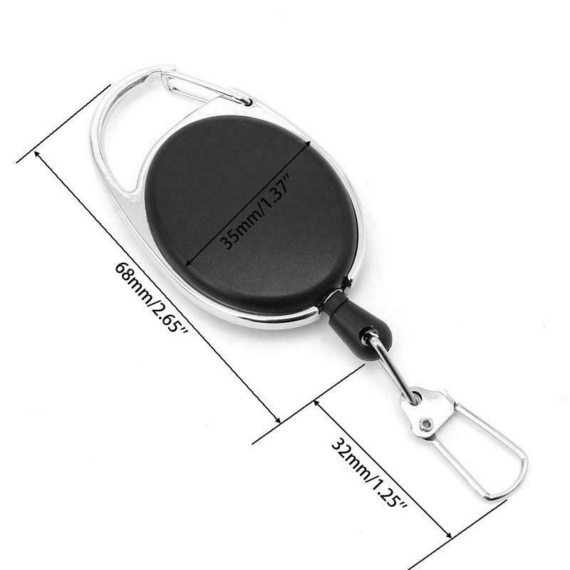 1PC Retractable Reel Key Chain Pull Key ID Card Badge Tag Clip Holder Buckle New