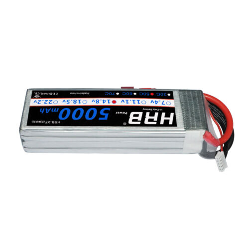 HRB 5000mAh 4S LiPo Battery 14.8V 50C-100C Deans T for RC Helicopter Truck Boat