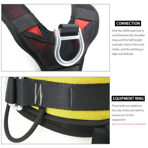 Half//Full Body Safety Rock Climbing Tree Rappelling Harness Seat Belt outdoor
