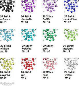 20 Stück Stern Glitzerstein Acryl 3 mm x 3 mm Nail Nagel Art Beauty Glitter *