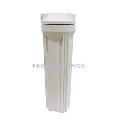 "Reverse Osmosis filter housing 10""- 1/2"" NPT White"