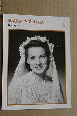(s32) Starfilmkarte - Maureen O'hara - Der Sieger
