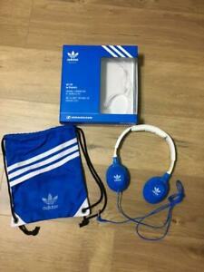Sennheiser-Adidas-Originals-Headphones-On-Ear-HD-220-Blue-White-Excellent-Japan
