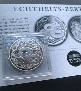 France-2013-Fabulous-Collection-F15-Year-of-The-Snake-La-Fontaine-Silver-COA