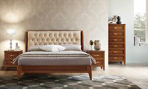 Details zu Schlafzimmer Set Klassisch Nussbaum Massivholz Holzfurnier  Italienische Möbel