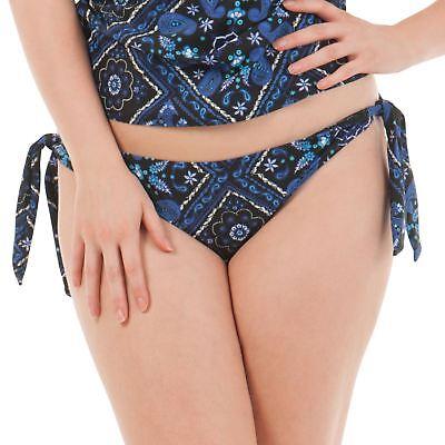 Curvy Kate Coral Reef Costumi da Bagno Slip bikini con cordino laterale CS1515 Blu