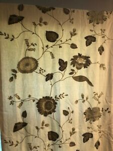Pottery Barn Curtains Margaritte Beige Olive 4 50 X 84