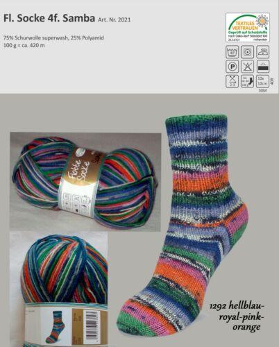 Sockenwolle Strumpfwolle Rellana Flotte Socke Samba 4fach 100 g mulesingfrei