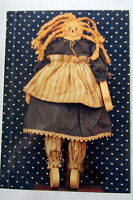 Craft Pattern Wood Working Wooden Doll Primitive Pattern Boy & Girl 12