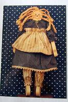 Craft Pattern Wood Working Wooden Doll Primitive Pattern Boy & Girl 12