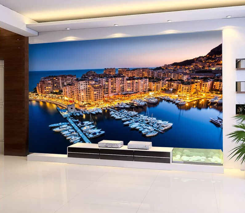 3D Seaside City 60 WallPaper Murals Wall Print Decal Wall Deco AJ WALLPAPER