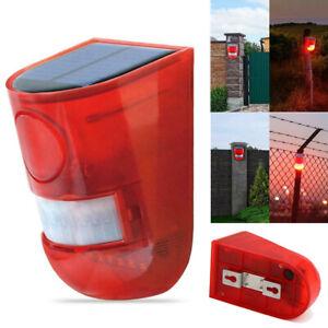 6-DEL-Waterproof-Solar-Voyant-d-039-Avertissement-Sonore-Alarme-mur-Lampe-Capteur-Jardin-Yard