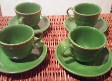 "Fiesta Shamrock Green Set of 4 Coffee Tea Cup Mug & 6"" Saucer Fiestaware"