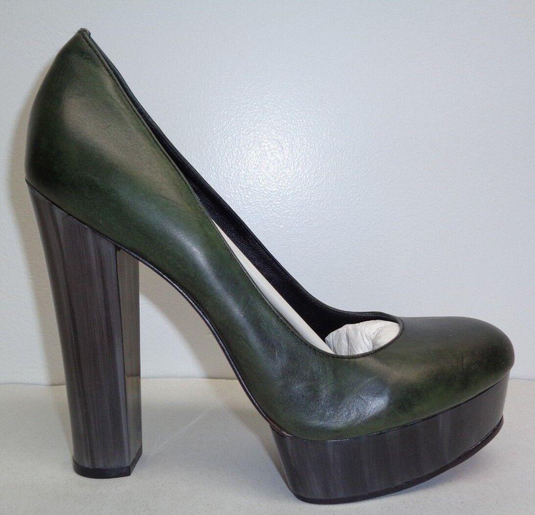 esclusivo Rachel Rachel Rachel Zoe Dimensione 9 M LEILA verde Brushed Leather Platforms Heels New donna scarpe  sport caldi