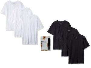 White BOSS 3-Pack Regular-Fit V-Neck Men/'s T-Shirts