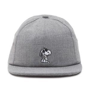 Image is loading Vans-x-Peanuts-Snoopy-Jockey-Cap-gray-heather 9b357a1f07aa