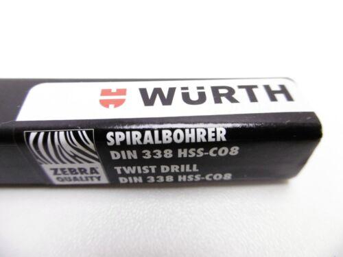 Bohrer Metalle Stahl Edelstahl HSS 8/% Kobalt DIN338 2.5 A 7.0 Wurth Zebra