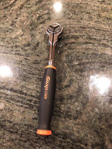 "Snap-On NEW 1//4/"" Drive Orange  Soft Grip Round Swivel Head Ratchet THNF72"