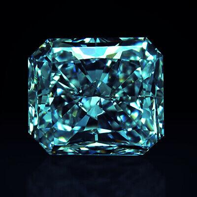 1.00 ct to 5.00 CT Emerald Fancy Cut VVS1 Loose Moissanite Blue Color