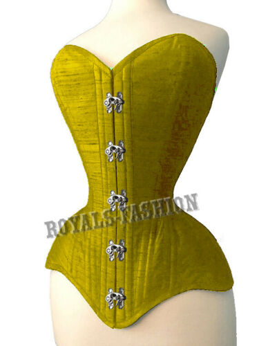 Heavy Duty Steel Boned Waist Training Shaping Over Bust Cotton Corset M9-CC