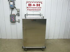 Aladdin Stainless Steel Mobile Enclosed Bakery Sheet Pan Holding Cabinet