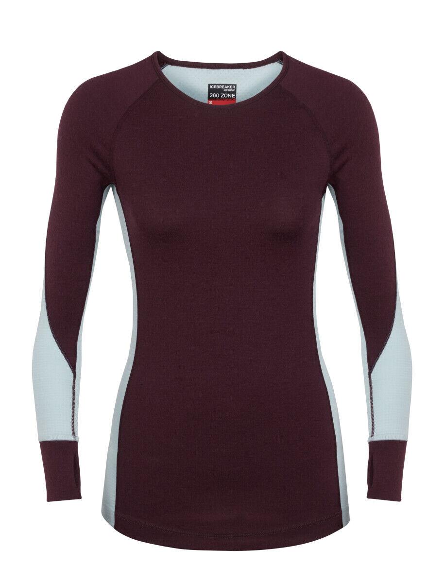Icebreaker mujeres bodyfitzone 260 zona LS Camisa de equipo (s)  de Terciopelo Rocío  barato y de alta calidad