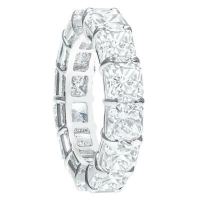 Jewelry & Watches Diamond 6ct Cushion Cut Vvs1/d Diamond Full Eternity Wedding Band 18k White Gold Finish Selected Material