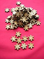 2cm / 20mm  MDF FLOWER -  100 x LASER CUT WOODEN BLANK CRAFT EMBELLISHMENT