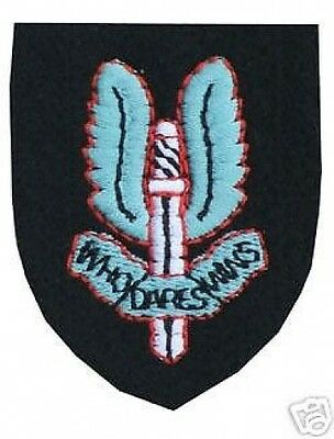 GENUINE ISSUE SAS CAP Beret BADGE ( SPECIAL AIR SERVICE