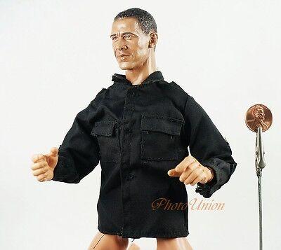 1:6 Action Figure Accessory Military Black Blouse Shirt UNIFORM DA181