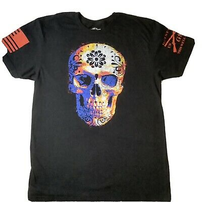 Black Grunt Style Sugar Skull 2.0 T-Shirt