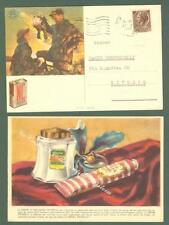 CREMA FRABELIA - POLVERE DA SPARO SIPE. Due cartoline d'epoca pubblicitarie..