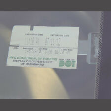 One Set Car Interior Front Windscreen Parking Ticket Permit Holder Clip Stickers