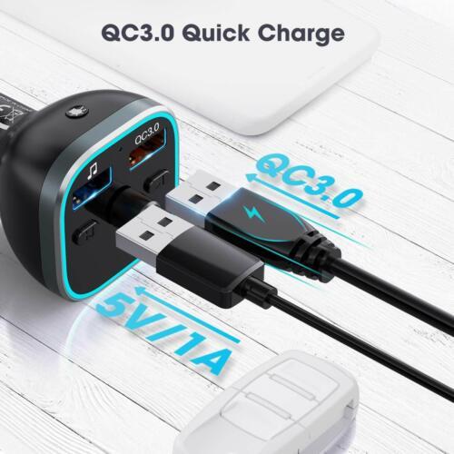 VicTsing Wireless Bluetooth 5.0 LED FM Transmitter Car Radio MP3 AUX USB Charger