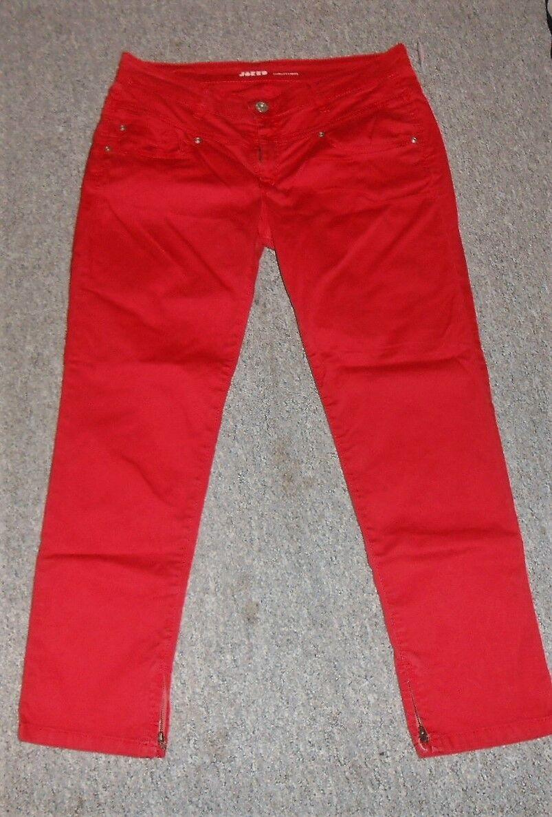 2 4 Joker womenes Marcas Hose red Pantalones women W32 Stretch