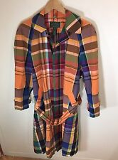 Polo Country Ralph Lauren AW 92 Sample Plaid Trench Jacket Size 8