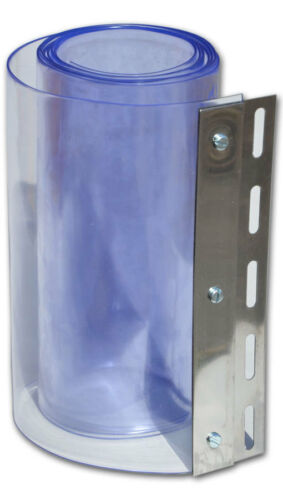 300mm x 3mm x 25m Chiaro flessibile in PVC Porta Striscia Per Tende