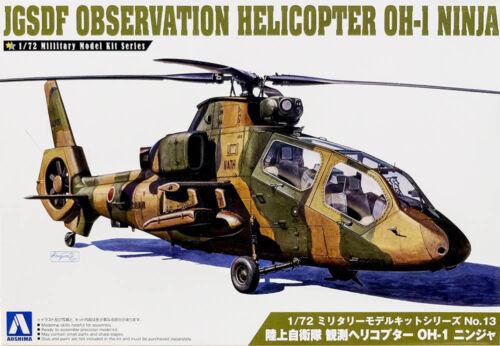JGSDF Kawasaki Aufklärung Hubschrauber OH-1 Ninja 1:72 Model Kit Aoshima 014349