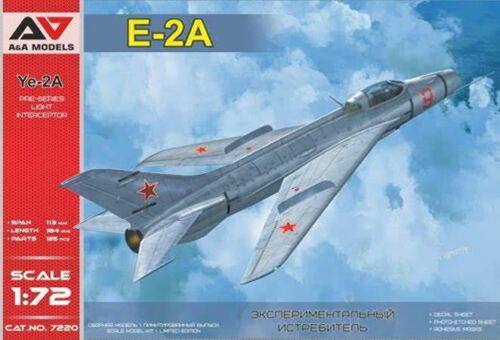 "Mikojan Ye-2a /"" Frontblende /"" A/&a 1//72 Mig-21 W // Swept Wings"