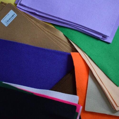 Over 90 Pieces @ 20cm x 20cm Assorted Colours Felt Bundle