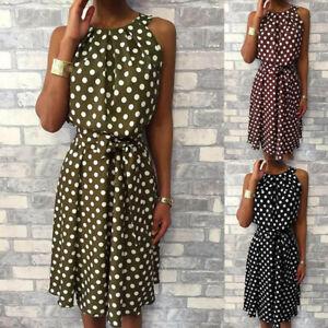 Women-Polka-Dot-Sleeveless-Dresses-Off-Shoulder-Party-Cocktail-Midi-Dress