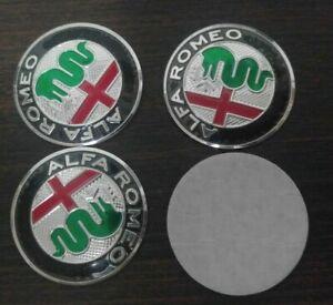Loghi-ruota-coprimozzo-adesivi-50mm-Alfa-Romeo-MiTo-147-GT