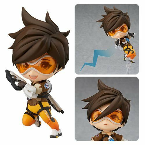 Overwatch  TRACER Classic Skin Edition  3 9 10  Nendgoldid Figure by Good Smile