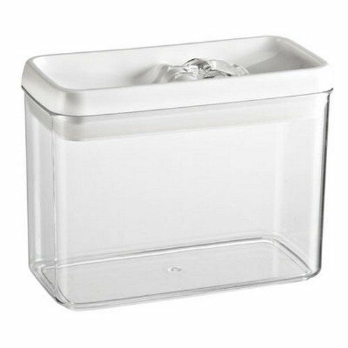 Felli Flip Tite Acrylic Food Storage Rectangular Canister 61 Oz 1