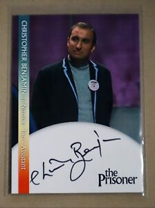 AUTOGRAPH CARD CHRISTOPHER BENJAMIN AS POTTER CB3 THE PRISONER