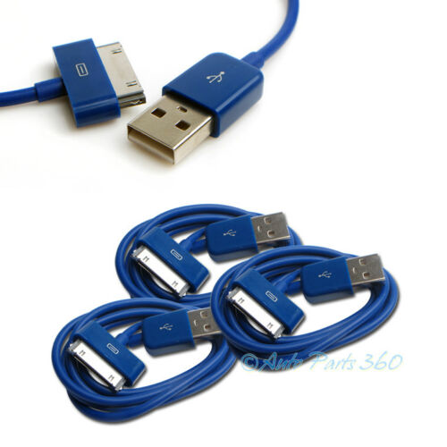 3X 6FT USB TO 30 PIN BLUE CABLE DATA SYNC CHARGER SAMSUNG GALAXY TAB TABLET 7.0
